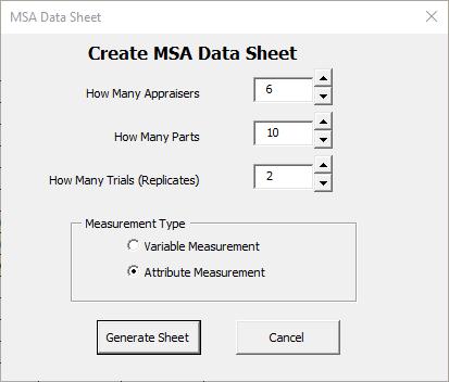 Attribute MSA setup